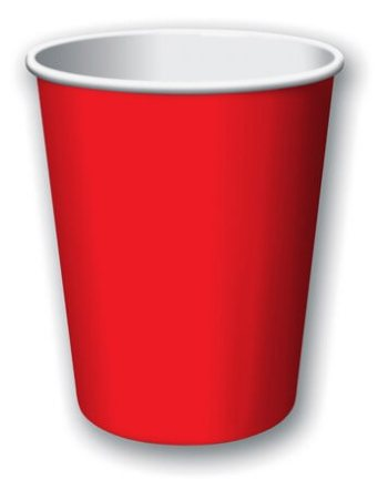 9oz Classic Red Paper Cups - 24CT-0