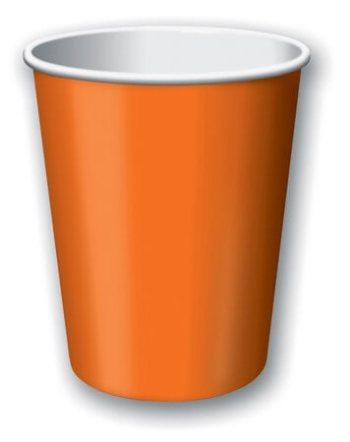 9oz Sun Kissed Orange Paper Cups - 24CT-0