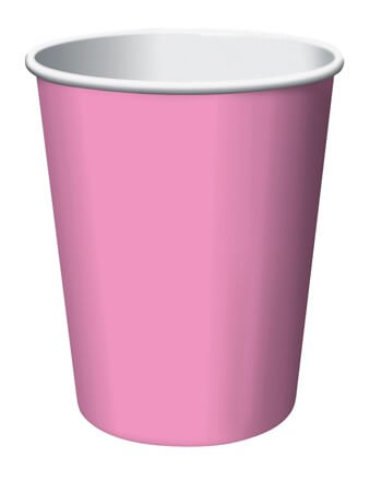9oz Candie Pink Paper Cups - 24CT-0