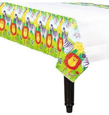 """Paper Tablecover Jungle Animal - 54"""" x 102""""-0"""