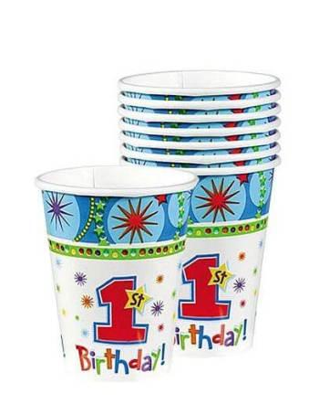 One-Derful Birthday Boy 9oz Paper Cups - 8ct-0