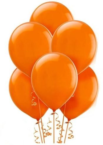 "12"" Orange Latex Balloon - 10CT-0"