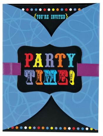 Birthday Cheers Large Novelty Invite 6.25' x 4.75' - 8CT-0