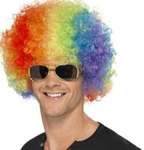 Multi Colored Afro Wigs-0