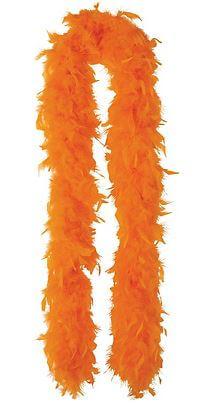 """Feather Boa Orange 72""""-0"""