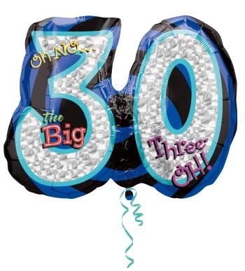 "Oh No! The Big 30 Birthday Balloon 27"" P40-0"