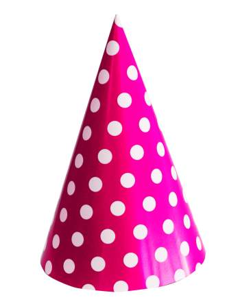 Polka Dot Caps Pink - 10PC-0