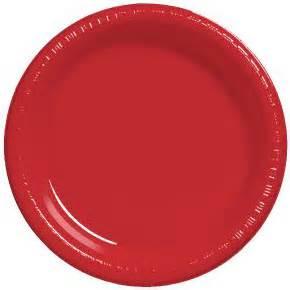 """10"""" Premium Plastic Red Plates - 10CT-0"""