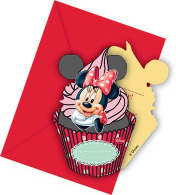 Minnie Mouse Invitations - 6CT-0