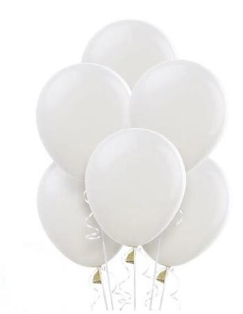 "12"" White Latex Balloons - 100CT-0"