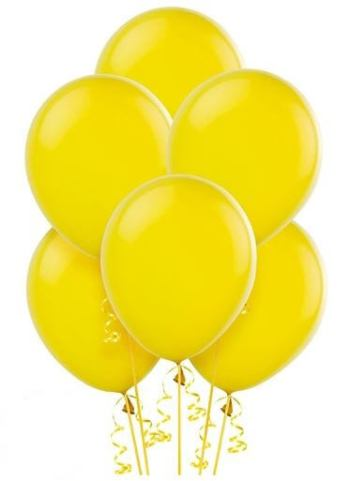 "12"" Yellow Latex Balloons - 100CT-0"