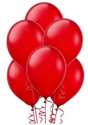 "12"" Red Latex Balloons - 100CT-0"