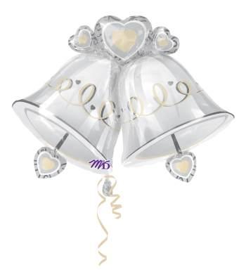 Wedding Bells SuperShape Balloon P35-0