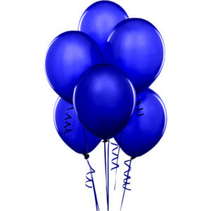 "8"" Dark Blue Latex Balloon - 20Ct-0"