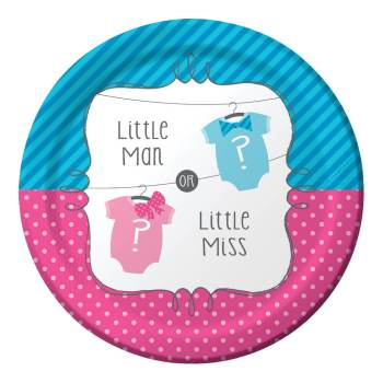 "Little Man Little Miss 7"" Dessert Plates - 8CT-0"