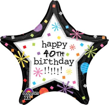 "Birthday Confetti Personalized Star Balloon 18"" S70-1PC-0"