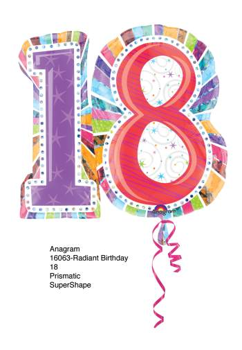 "18th Birthday Balloon 28"" P40-1PC-0"