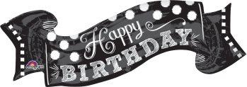 Black & White Chalkboard Birthday P35-0