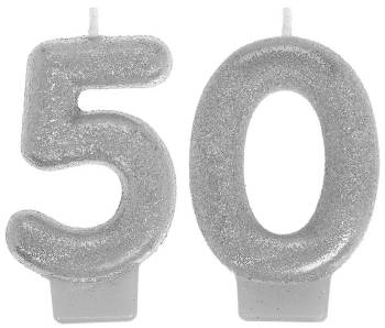 Sparkling Celebrate 50th Birthday Candle-0