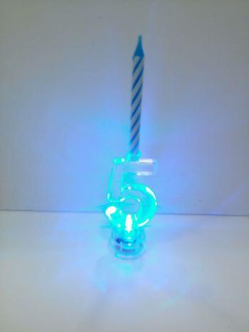 LED Numerical Candle 5-0