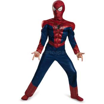 Spiderman Muscle Costume - M/L-0