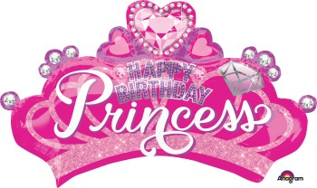 Princess Crown & Gems Balloon P38-0