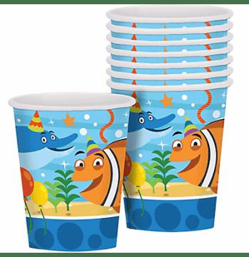 Ocean Buddies 9Oz Paper Cups - 8PC-0