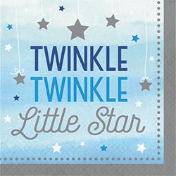 Twinkle Twinkle Little Star Boy Lunch Napkins - 16PC-0