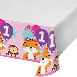 """One is Fun Girl Tablecover - 54 x102""""-0"""