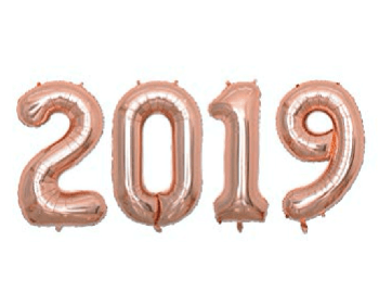 "2019 Rose Gold Happy New Year Baloons 40""-0"