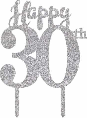 30th Birthday Cake Topper-0