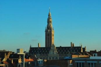 het imposante silhouet van de universiteitsbibliotheek van Leuven