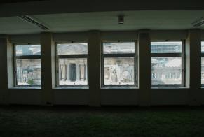 frontaal uitzicht op het Justitiepaleis
