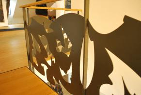 originele borstwering - van de kelder tot de zolder wordt er kunst geëxposeerd