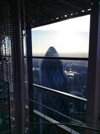 vanop de 40ste verdieping...