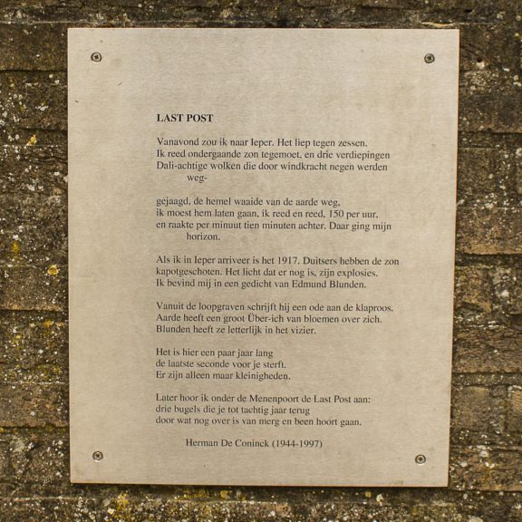 gedicht Last Post H De Coninck