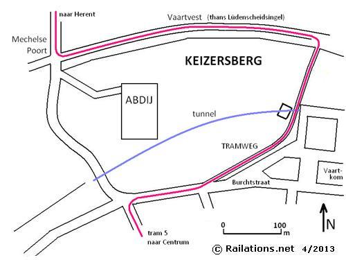 Leuven abdij Keizersberg tramweg