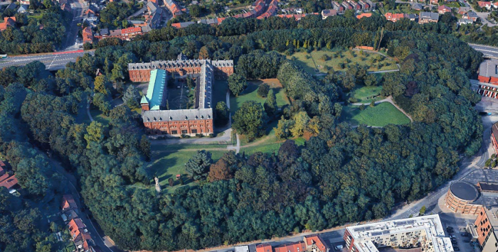 luchtfoto Abdij Keizersberg Leuven