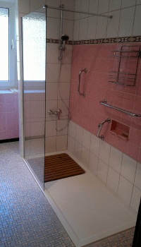 Umbau von Badwanne auf Dusche