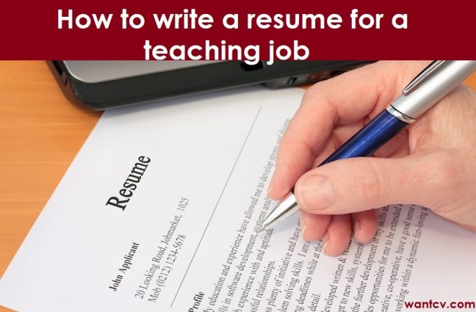 How to write a resume for a teaching job