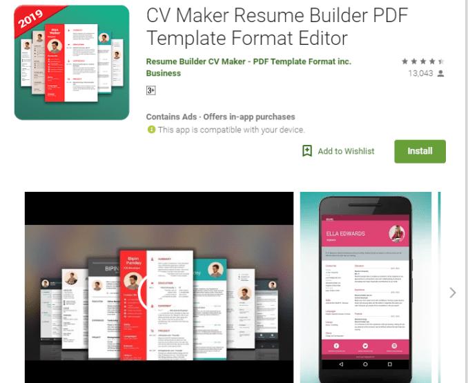 Google Resume Builder Legit! Top 5 CV Maker Mobile Apps ... on community builder, word builder, sentence builder, home builder, car builder,
