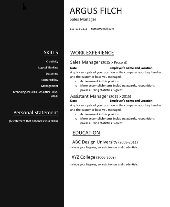 Check Out the Top Resumes Free Download in MS Word, Wantcv.com
