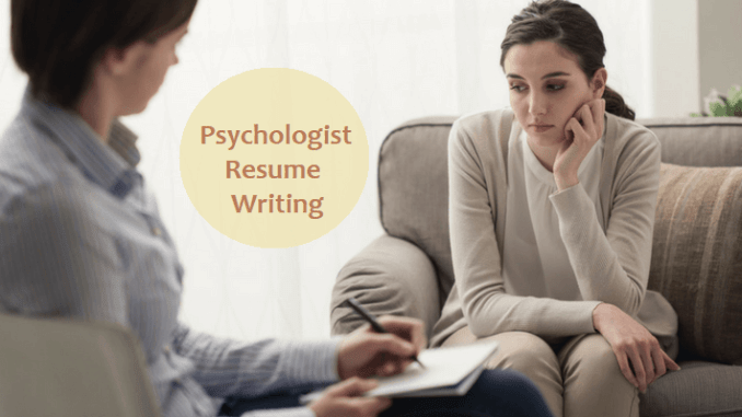 psychologist resume writing