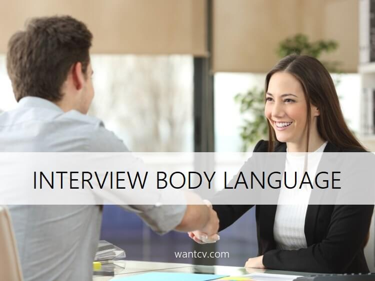 interview body language tips