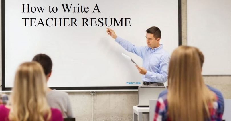 teaching resume format