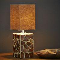 Designer Lampe Perlmutt quadratisch grau günstig kaufen