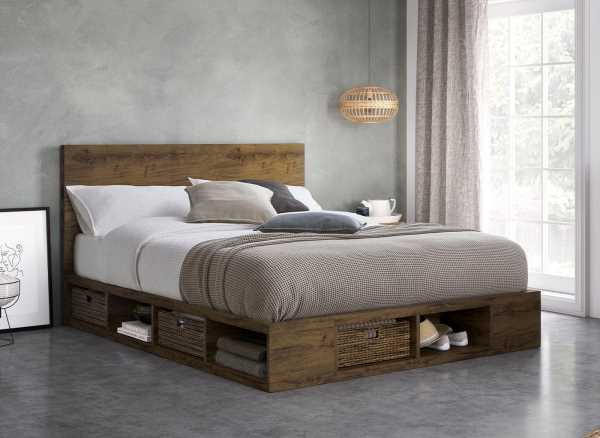Wilkes Wooden Storage Bed Frame The Dreams Workshop Want Mattress