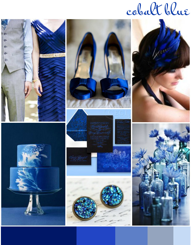 Cobalt Blue  Wedding Inspiration  Colour Ideas