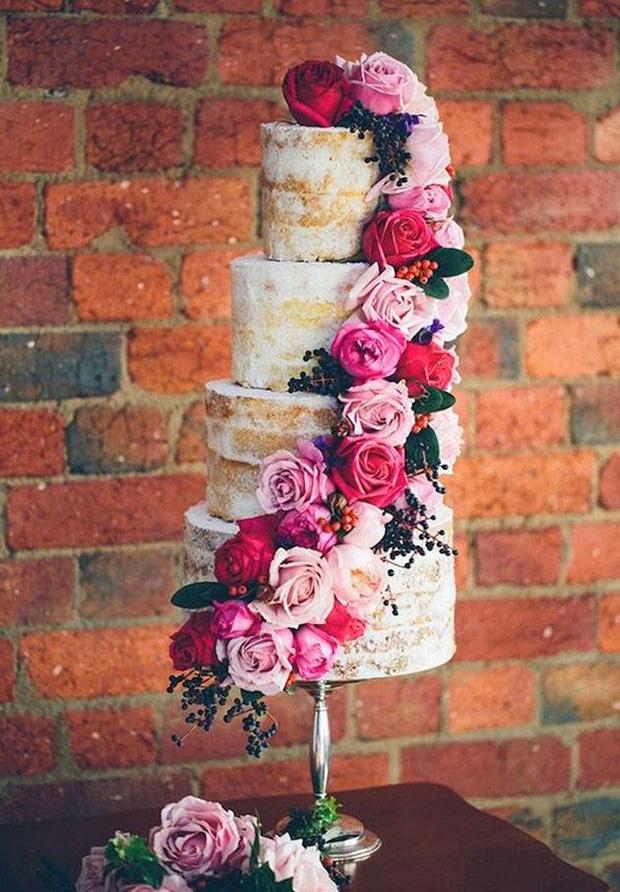 Wedding Small Cakes Velvet Red Unique