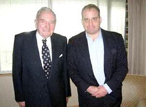 Fulford en David Rockefeller tijdens het exclusieve interview.